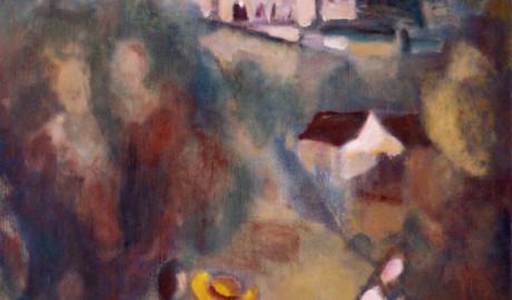 Výlet na Křivoklát (80×60, soukromá sbírka)