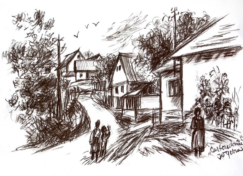 Cestou domů (ze Svaté, rudka, soukromá sbírka)